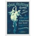 Vintage Australian Advertising Poster - The Ideal Velveteen