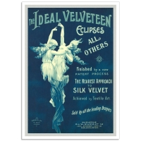 Vintage Australian Advertising Poster - The Ideal Velveteen