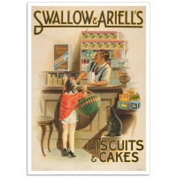 Vintage Australian Advertising Poster - Swallow & Ariell's Biscuits and Cakes