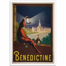 Benedictine Liqueur - Vintage French Advertising Poster