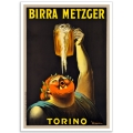 Birra Metzger Torino - Vintage French Advertising Poster