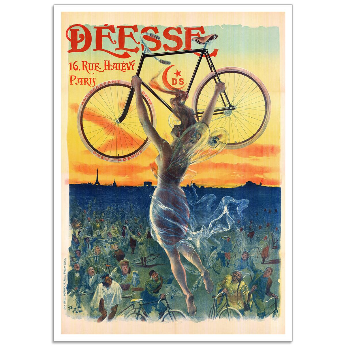 Vintage Advertising Poster - Deesse Bicycle