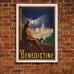 Benedictine Liqueur - Vintage French Advertising Poster