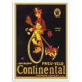 Vintage Advertising Poster - Pneu-Velo Continental