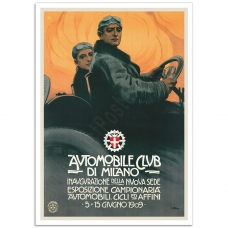 Vintage Advertising Poster - Automobile Club de Milano,1909
