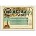 Church Reserve Bell Street, Coburg - Vintage Australian Advertising Poster
