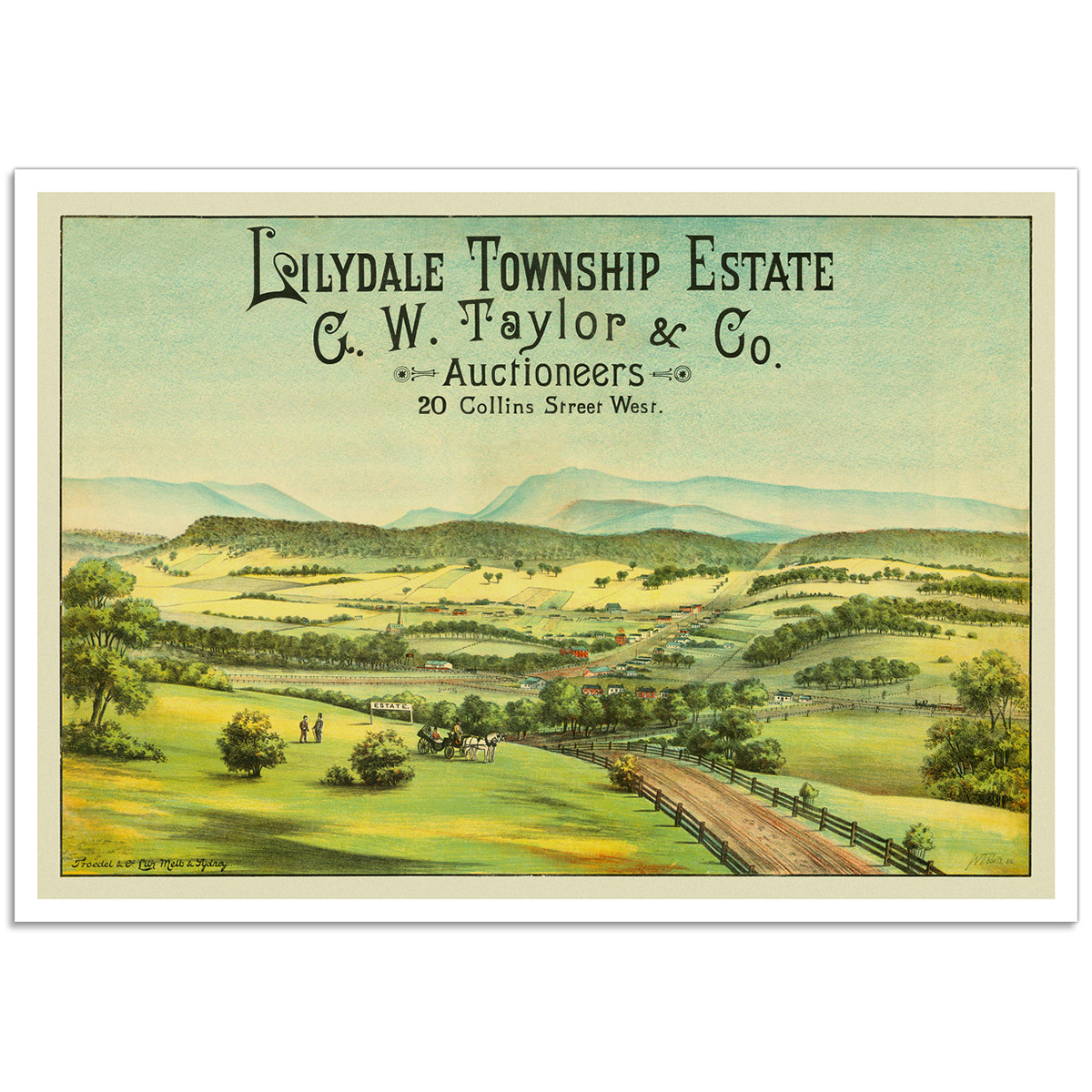 Lilydale Township Estate - Vintage Australian Advertising Poster
