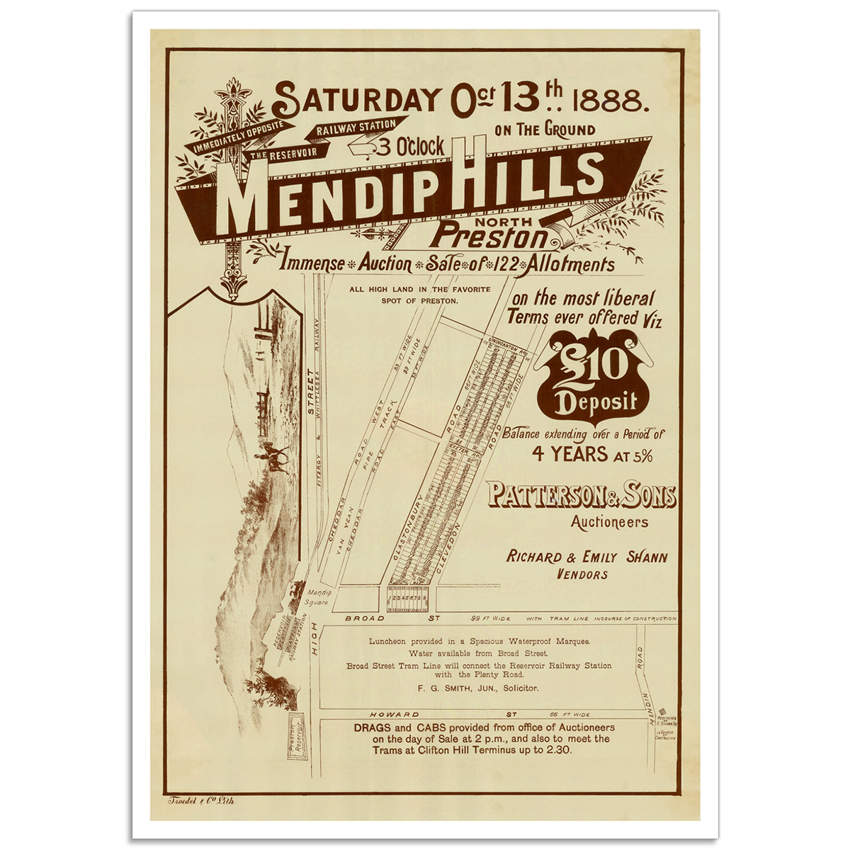 Mendip Hills North Preston - Vintage Australian Advertising Poster