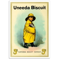Vintage Advertising Poster - Uneeda Biscuit Boy