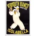 Vintage Advertising Poster - Isolabella Vermouth Bianco, High-Life