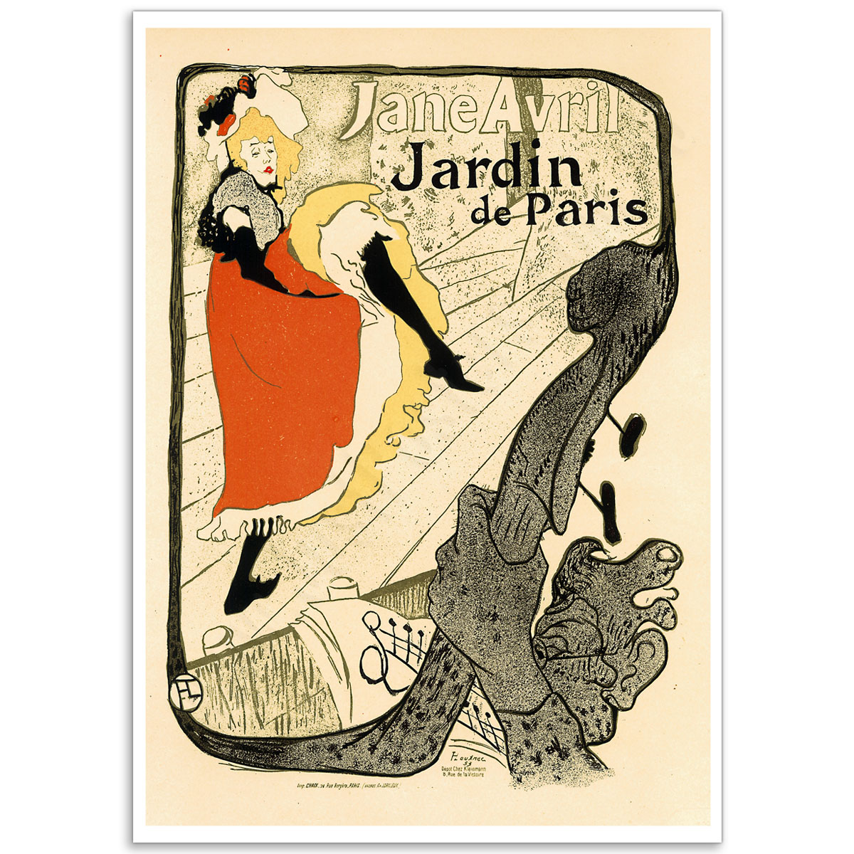 Art Nouveau Poster - Jane Avril, Jardin de Paris