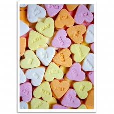 Abstract Art - Candy Hearts Poster