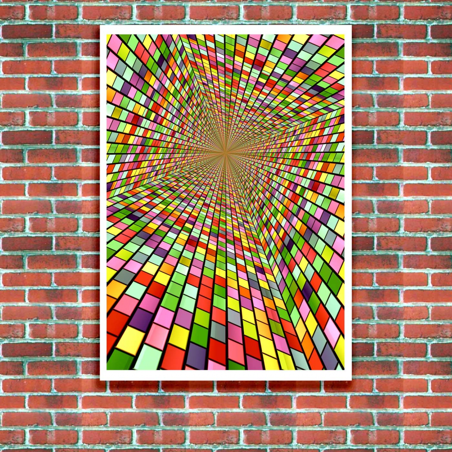 Abstract Art - Colour Shaft PosterAbstract Art - Colour Shaft Poster