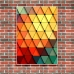 Abstract Art - Colour Swatch Triangles Poster