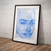 Abstract Art - Wireframe Female Face Poster