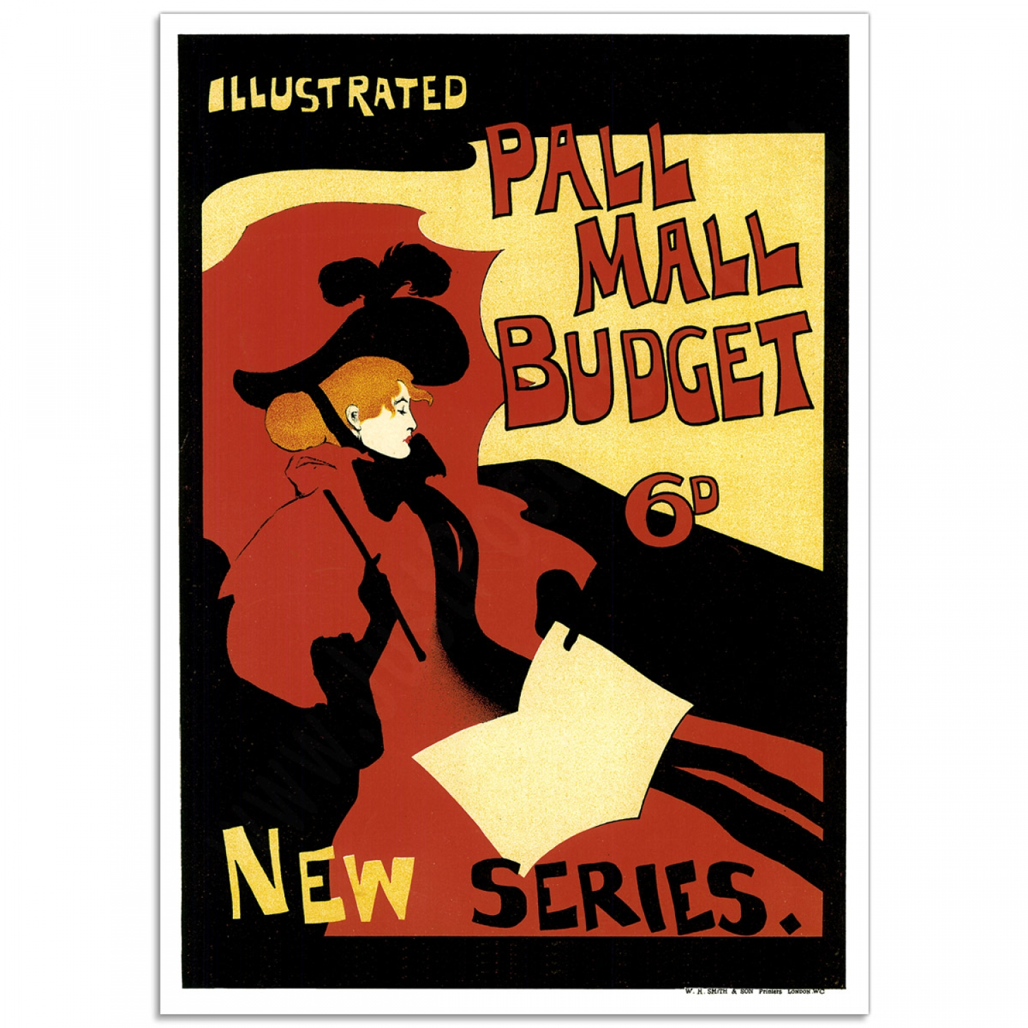 Vintage Book Cover Posters : Illustrated pall mall budget vintage book illustration