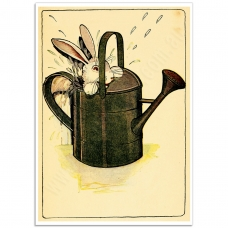 Book Illustration Poster - Peter Rabbit Hiding