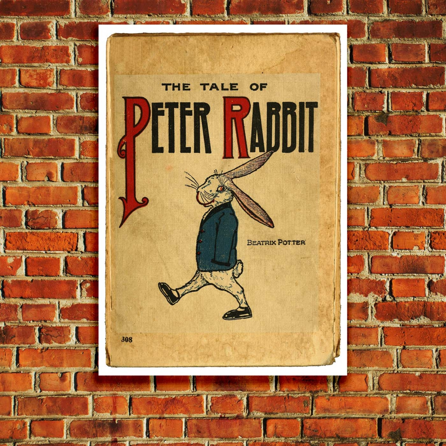Children S Book Cover Posters : The tale of peter rabbit children s book cover poster