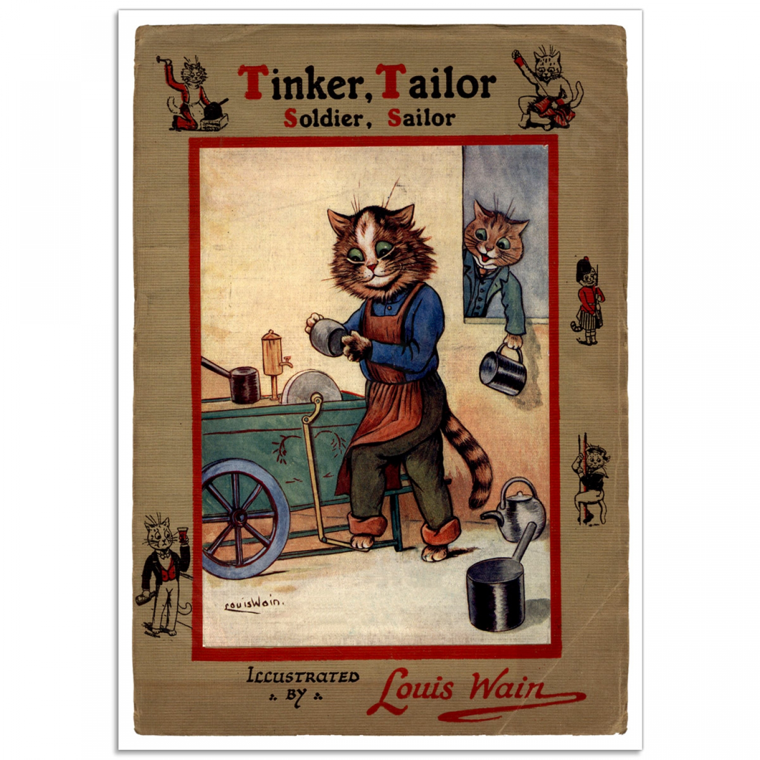 Children S Book Cover Posters : Tinker tailor soldier sailor vintage children s book