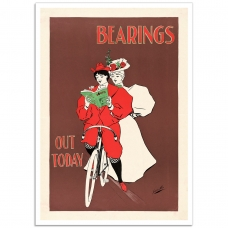 Vintage Advertising Poster - Bearings Out Today