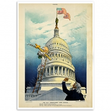 Vintage Comic Poster - Old Americanism Good Enough
