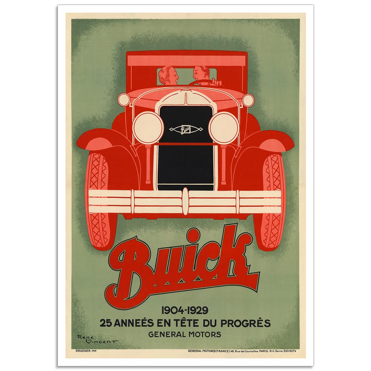 Buick 1904-1929 - Art Deco Auto Poster