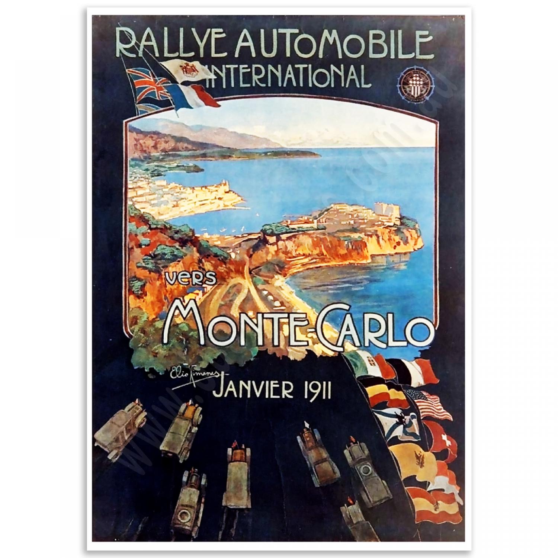 Fine Line Auto >> Monte-Carlo 1911 - Vintage Poster | Just Posters