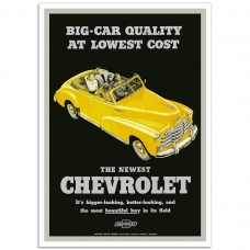 Chevrolet Fleetmaster 1947 - American Retro Auto Poster