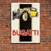 1934 Bugatti Type 49 - Art Deco Auto Poster