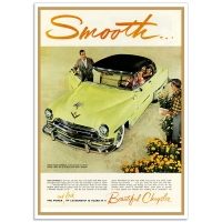 Chrysler Smooth 1954 - Retro Auto Poster