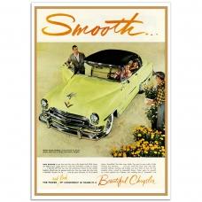 Chrysler Smooth 1954 - American Retro Auto Poster