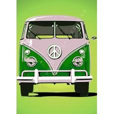 Auto Poster - Volkswagen Kombi