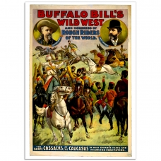Wild West Poster - Buffalo Bill's Wild West - Cossacks