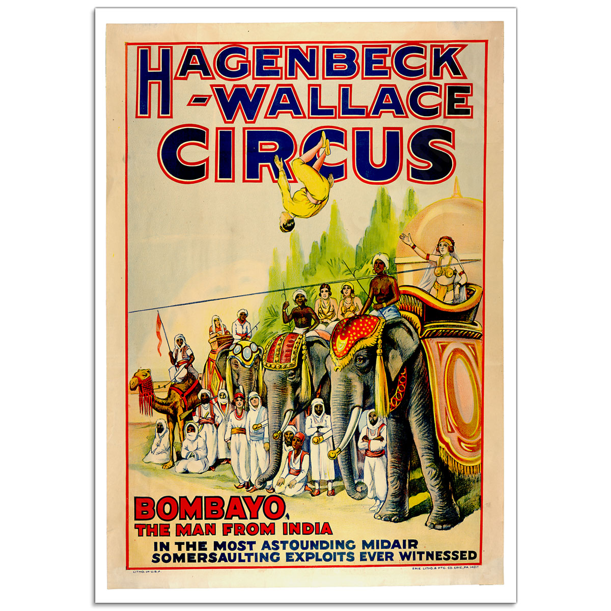 Circus Poster - Hagenbeck-Wallace, Bombayo - The Man from India