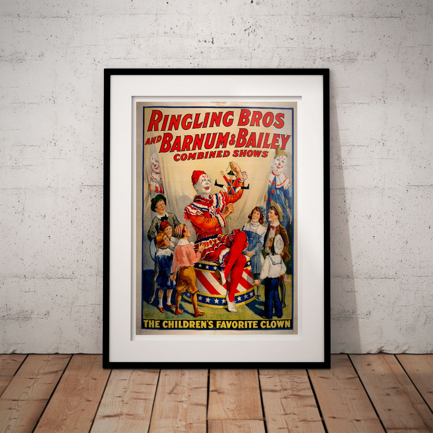 children u0027s favorite clown vintage circus poster just posters