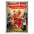 Circus Poster - Ringling Bros, Barnum and Bailey - Children's Favorite Clown