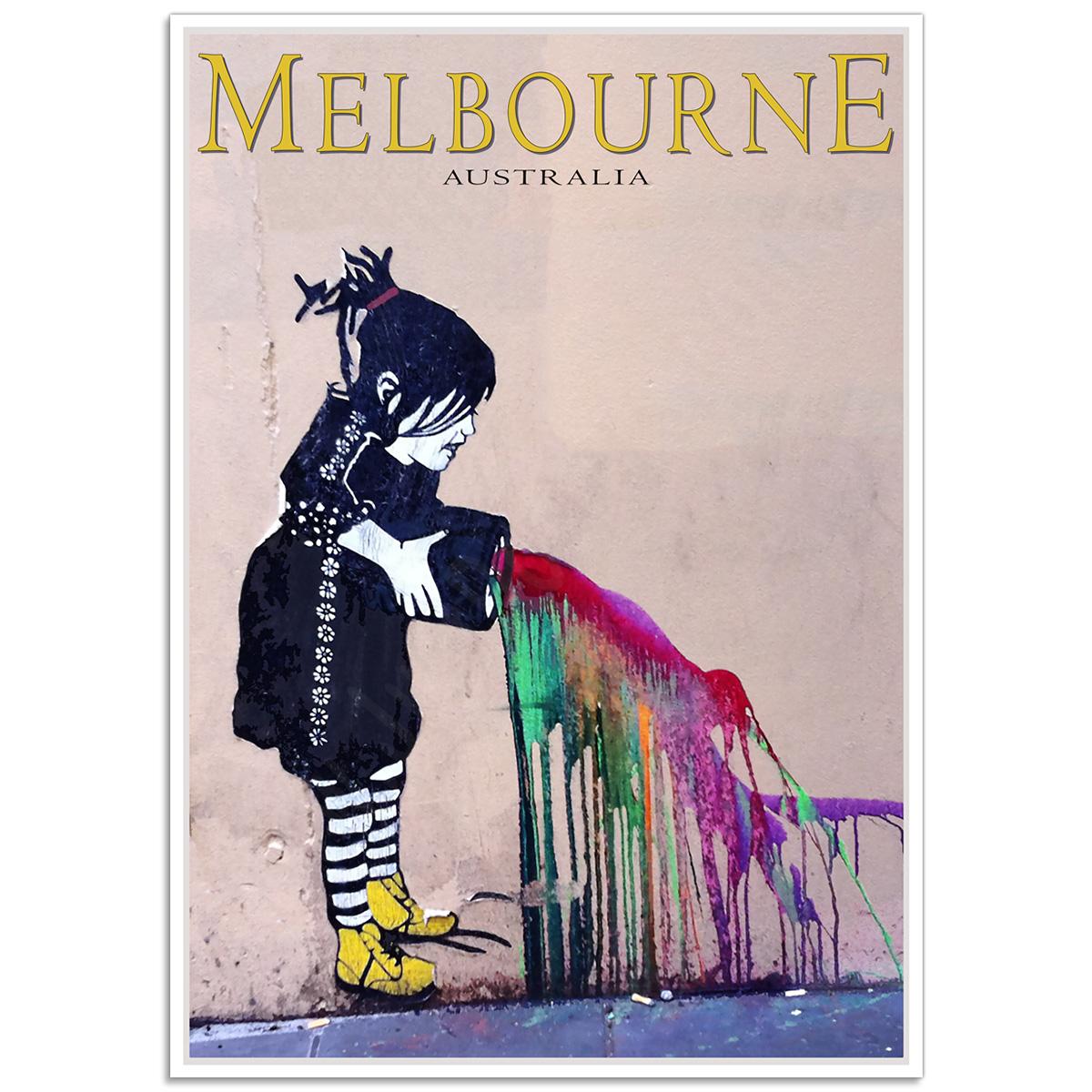 Melbourne Paint Splash Girl - Degraves Street