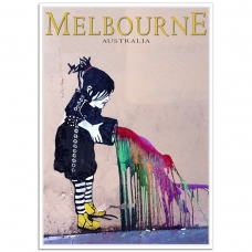 Melbourne Paint Splash Girl - Degraves Street