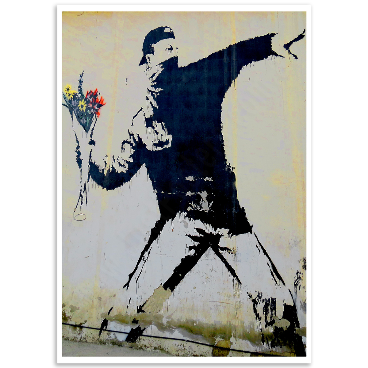 Street Art Poster - Flower Thrower