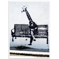 Street Art Poster - Business Giraffe