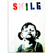 Street Art Poster - Smile Girl