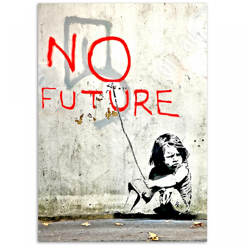 no future poster banksy street art poster just posters. Black Bedroom Furniture Sets. Home Design Ideas