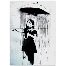 Street Art Poster - Umbrella Girl