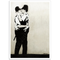 Street Art Poster - Kissing Coppers