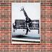 Street Art Poster - Business Giraffe
