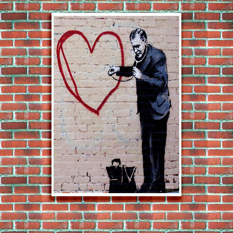 peace love doctor banksy street art poster just posters. Black Bedroom Furniture Sets. Home Design Ideas