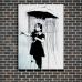 Street Art Poster - Umbrella Girl
