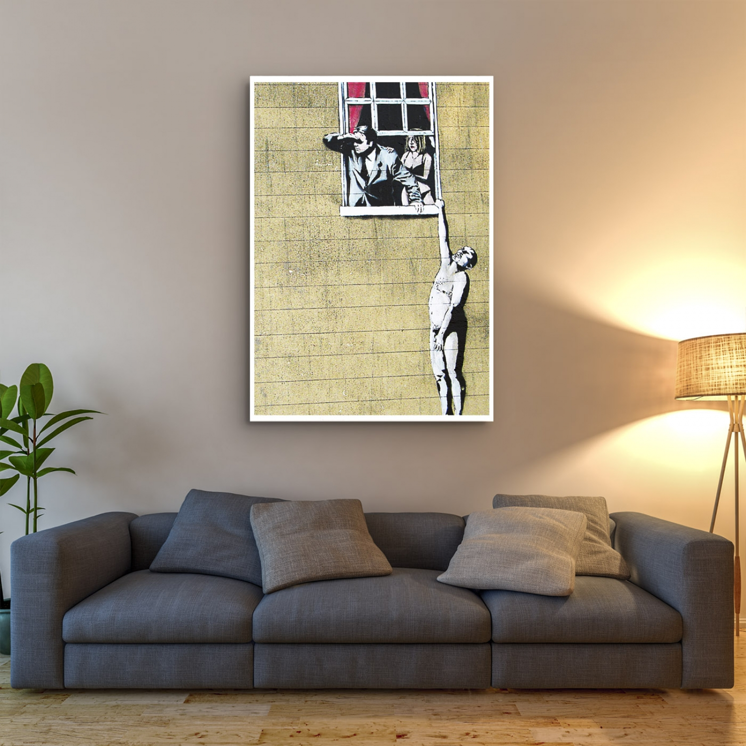 Well Hung! | Banksy Street Art Poster | Just Posters