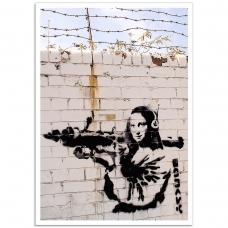 Street Art Poster - Mona Lisa Bazooka
