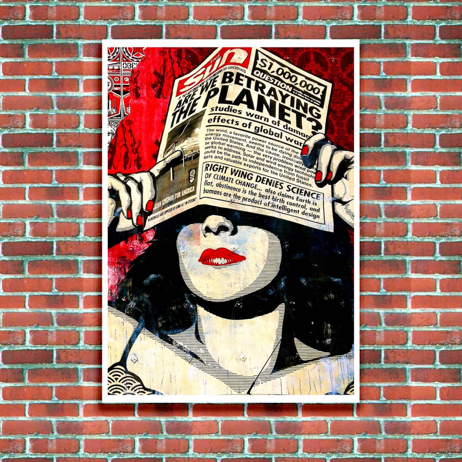 are we betraying the planet street art poster just posters. Black Bedroom Furniture Sets. Home Design Ideas